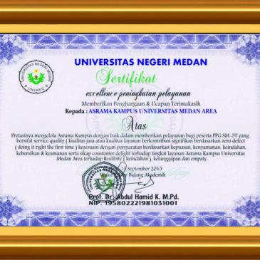 Asrama UMA Mendapat Penghargaan Excellence