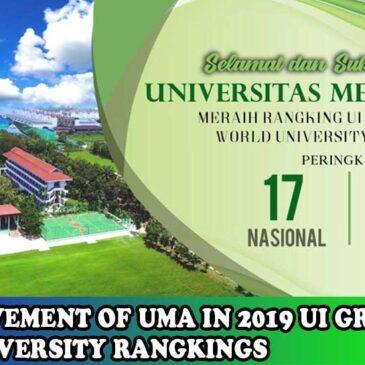 Selamat kepada Universitas Medan Area meraih Rangking UI Greenmetric World University Rangkings
