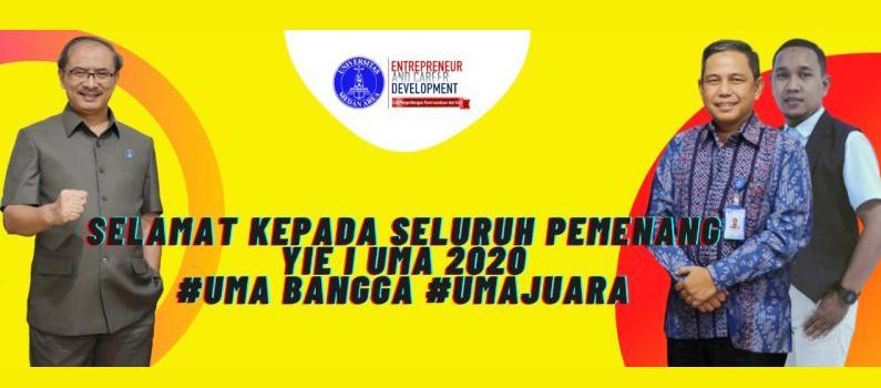 Selamat Kepada Seluruh Pemenang Young Inovator Exhibition 1st Universitas Medan Area 2020